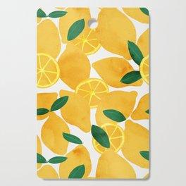 lemon mediterranean still life Cutting Board