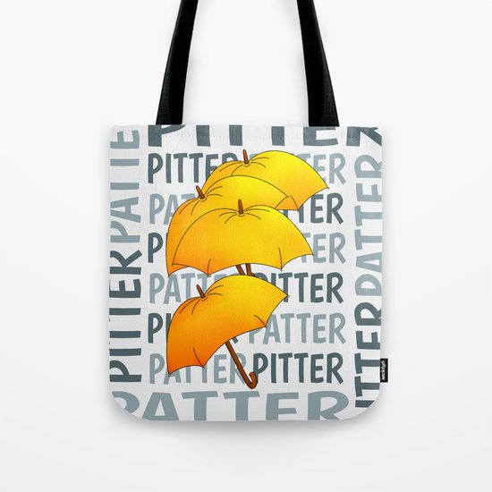 Umbrella  Pitter Patter Tote Bag