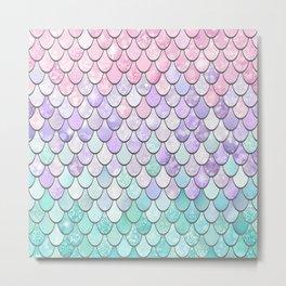 Cute Pastel Tear Drop Pattern Metal Print