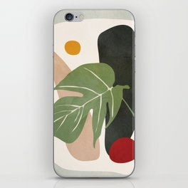 Abstract Monstera Leaf iPhone Skin