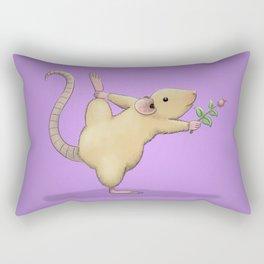 Yoga Rat, Day 5 Rectangular Pillow