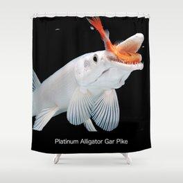 Platinum Alligator Gar Pike Shower Curtain