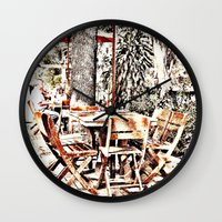 outdoor Wall Clocks featuring Outdoor Lunch by Losal Jsk
