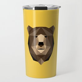Bear // Low poly art // Animal Heads Travel Mug