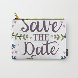 Save the Date Vintage bicycle Carry-All Pouch