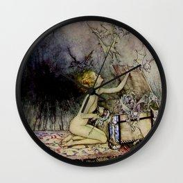 """Pandora Opens the Box"" by Arthur Rackham Wall Clock"