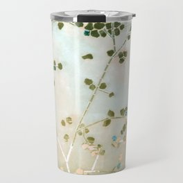 mosaica glitterati in blue + gold Travel Mug