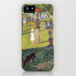 "Georges Seurat ""A Sunday on La Grande Jatte (study)"" (1884-85) iPhone Case"