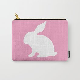 Bunny On the Pink Carry-All Pouch