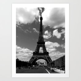 Parisian Summer in High Drama Art Print