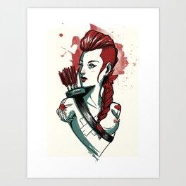 Amazon woman - 1 Art Print