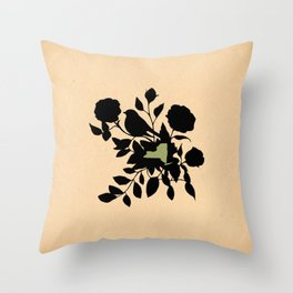 New York - State Papercut Print Throw Pillow