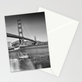 Golden Gate Bridge with breakers Stationery Cards