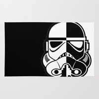 stormtrooper Area & Throw Rugs featuring Stormtrooper by Rothko