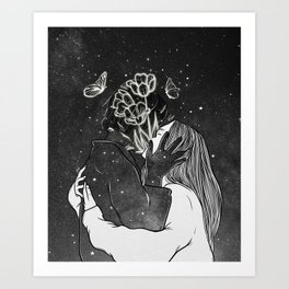 A land of love. Art Print