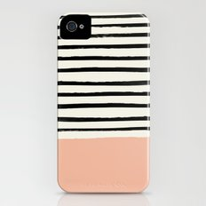 Peach x Stripes iPhone (4, 4s) Slim Case