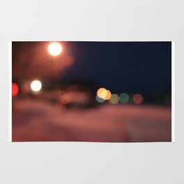 Colors Sing to Me on Snowy Nights Rug