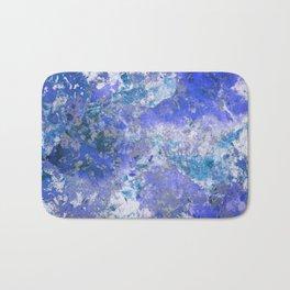 Cornflower Blue Abstract Painting Bath Mat