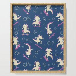 To the Maxolotl - Blue & Violet Serving Tray