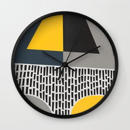 Umbrella Rain Abstract Wall Clock