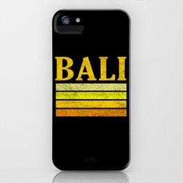 Bali Vintage Retro iPhone Case