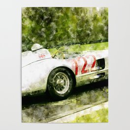 Sterling Moss 1955 Mille Miglia 300 SLR Poster