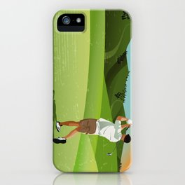 Mountain Golfer iPhone Case