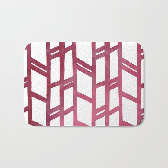 Maroon skyscraper pattern Bath Mat