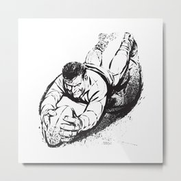Rugby Try by PPereyra Metal Print