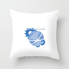 Science Rules! Throw Pillow