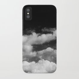 Clouds in black and white iPhone Case