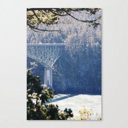 Deception Pass Bridge Among the Pines Canvas Print