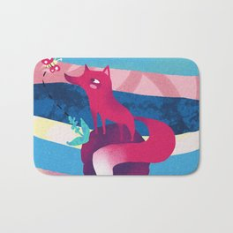 Pink Space Fox The Little Prince Bath Mat