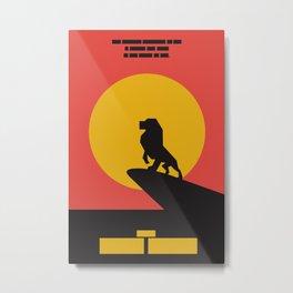 The Lion King Simple Series Metal Print