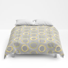 Solar Eclipse MCM Gray-Yellow Comforters