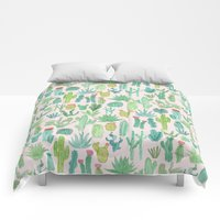 Comforters featuring Cactus by Abby Galloway