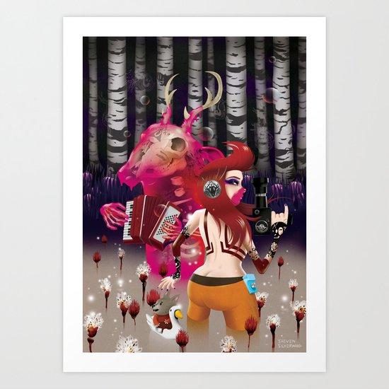 'Showtime' Art Print