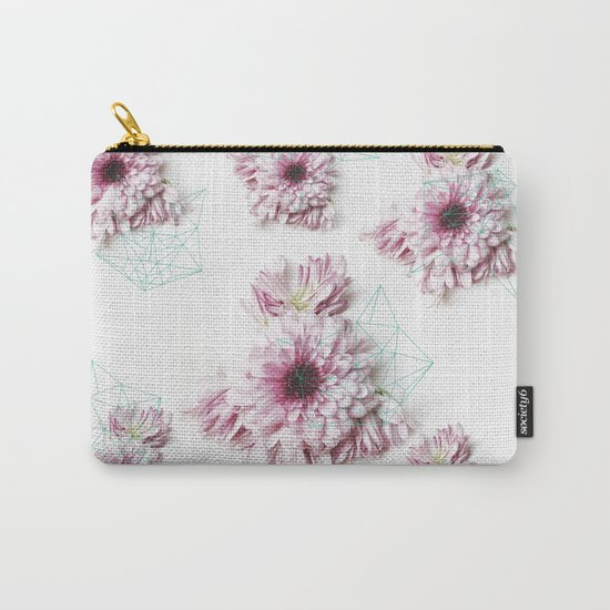 Geometry pastel flowers Carry-All Pouch
