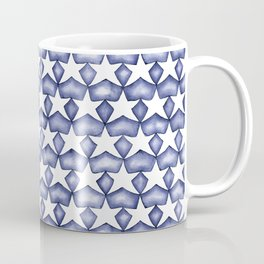 Dark Indigo Stars Coffee Mug