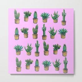 cactus pink 3 Metal Print