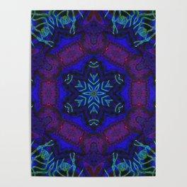 Bioluminescent Tribal Lotus Poster