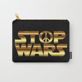 Stop wars in gold - world peace concept Carry-All Pouch