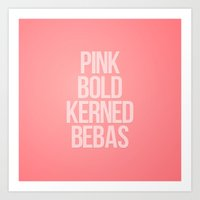 MetaType Pink Art Print