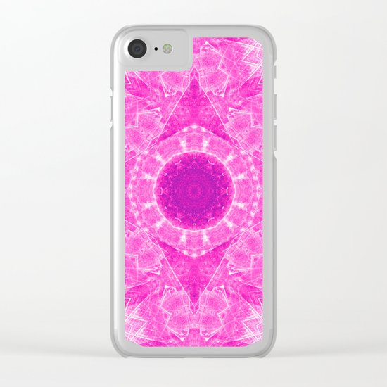 Vibrant pink kaleidoscope Clear iPhone Case