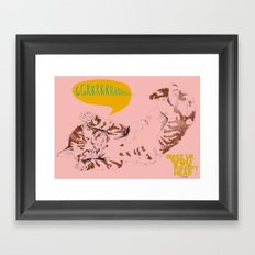Wake Up Tiger - Coral Framed Art Print