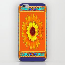 Southwestern Sun Flowers Abstract Design iPhone Skin
