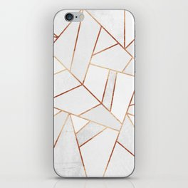 White Stone & Copper Lines iPhone Skin