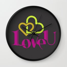 Love U Wall Clock