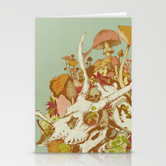 skulls in spring Stationery Cards