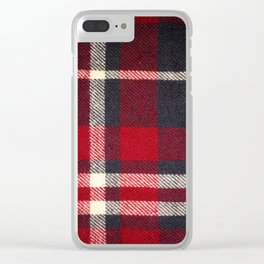 Red Flannel Clear iPhone Case